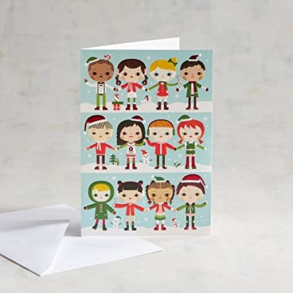 Unicef Christmas Cards.Amazon Com Unicef Kids Holding Hands Holiday Card Pack Of