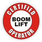 Certified Boom Lift Operator Hard Hat Sticker / Helmet Decal Label Lunch Tool Box