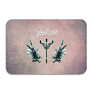 ptgik Judas Priest Logo antideslizante Felpudo color blanco