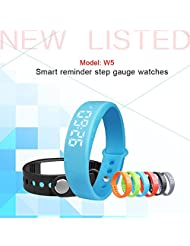 Lolipp Lolipp Smart Bracelet Sports Watch with Sleep Monitoring/3D Pedometer/Calorie Monitor/Real Temperature Display/Silent Alarm Clock/Time/Date - Blue