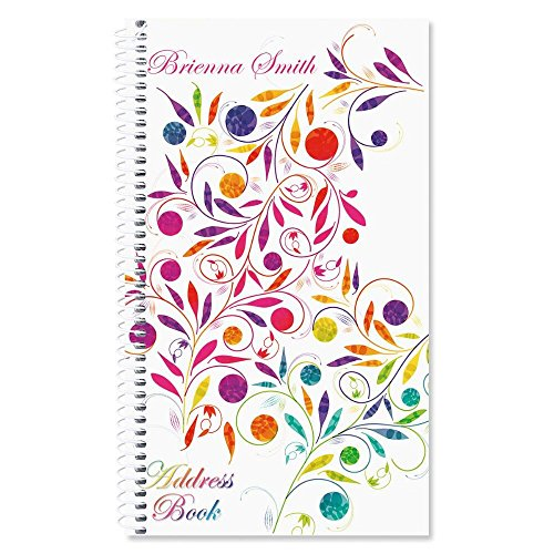 Color Swirl Personalized Lifetime Address Book by Current
