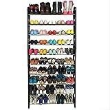 USA Premium Store 50 Pair 10 Tier Shoe Tower Rack Organizer Space Saving Shoe Rack Stainless Steel