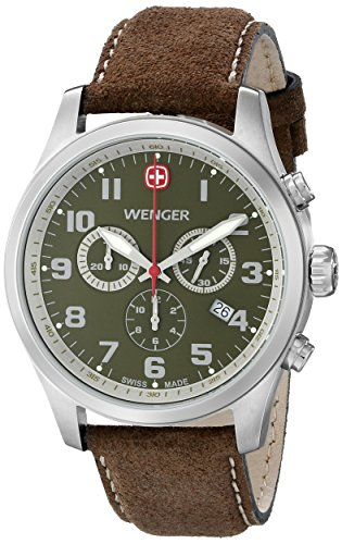 Wenger-Mens-71001-Amazon-Exclusive-Stainless-Steel-Watch-with-Brown-Leather-Band