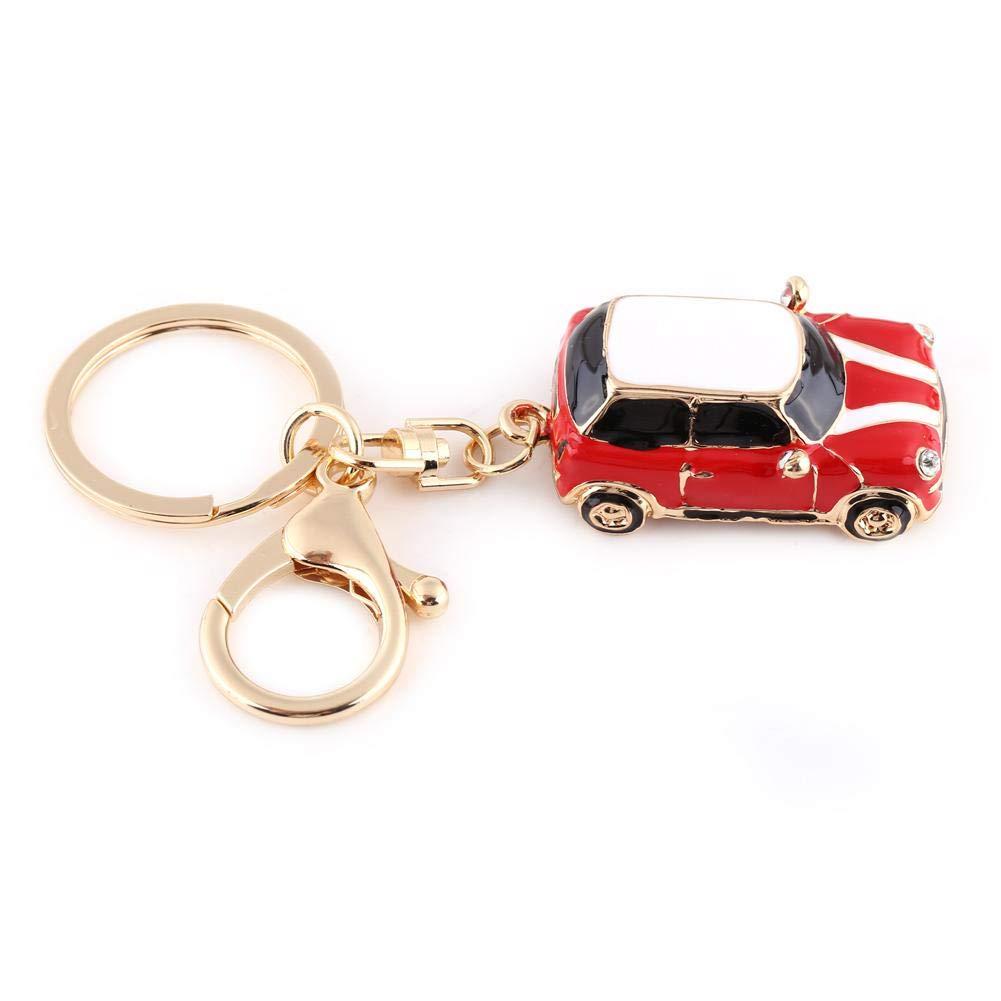 con Ciondolo a Forma di Mini Portachiavi Sportivo Multicolore a Forma di Auto Rosso. Idea Regalo Sheens Portachiavi per Auto Classico 3D Intagliato in Lega di Metallo