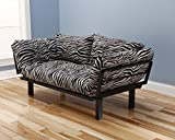 3 position futon - Kodiak Best Futon Lounger - Versatile Positions - Sit Lounge Sleep - Smaller Size Piece of Furniture is Perfect for Bedroom Studio Apartment Guest Room Covered Patio Porch (ZEBRA)