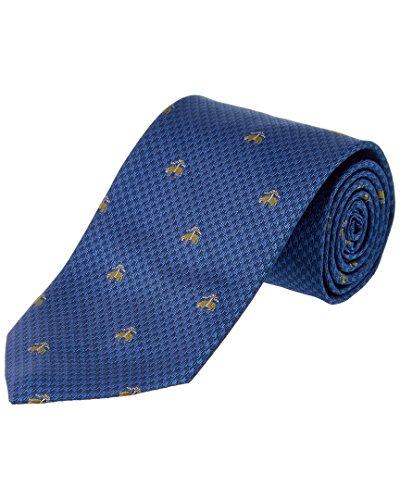 Brooks Brothers Mens Blue Houndscheck Silk Tie Brooks Brothers Silk Necktie