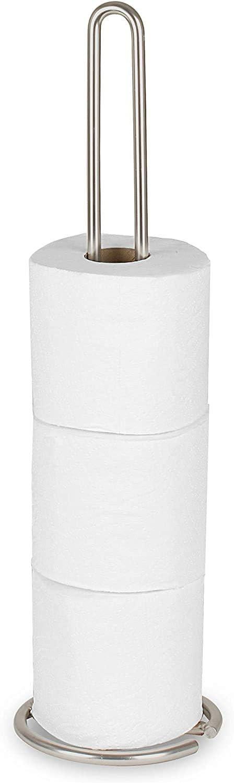 Spectrum Diversified Euro Toilet Tissue Reserve, Toilet Paper Holder, Toilet Roll Holder, Holds Regular & Jumbo Rolls, Modern Bathroom Fixture