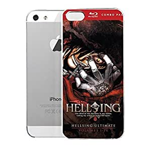 iPhone 5 case iPhone 5S Case Hellsimg Hellsimg Ultimate Collection Volumes 1 4 Blu Ray Action Anime And Manga beautiful design cover case.