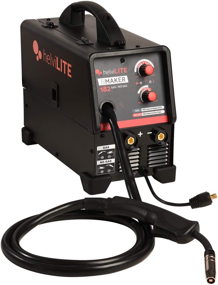 HelviLITE 99820049 - Soldador inverter FilMaker 182 sin gas con accesorios 230 V, negro