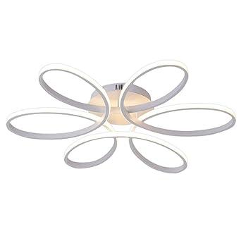 Henley LED-Deckenleuchte Modern 75W LED Lampen 6 Ring Deckenbeleuchtung  Deckenstrahler Wohnzimmer Schlafzimmer Kreativ Lampe Acryl Weiß Deckenlampe  ...