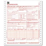 ComplyRight CMS 1500 Healthcare Billing Form, (02/12), 1-Part Continuous, 1000-count, Red & White (CMS1211)
