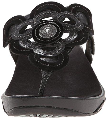 Aetrex Damessandring Voor Thong Sandaal Zwart