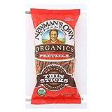 Newman's Own Organics Thin Stick Pretzels - Organic - Case of 12 - 7 oz.