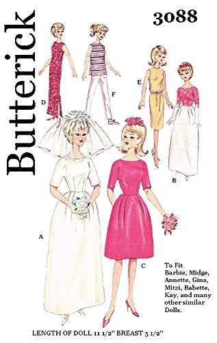 Butterick Fashion - Butterick 3088 Fashion Doll Clothes for 11 1/2