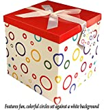 Gift Box 12''X12''X12'' - Garnier Collection - Easy to Assemble & Reusable - No Glue Required - Ribbon, Tissue Paper, and Gift Tag Included - EZ Gift Box by Endless Art US