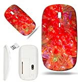 1000 baloons - Luxlady Wireless Mouse White Base Travel 2.4G Wireless Mice with USB Receiver, 1000 DPI for notebook, pc, laptop, macdesign IMAGE ID: 26158184 Colorful flowers maden of baloons background