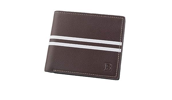 Yvelands Moda Corta Bifold Men Wallet Casual Soild Hombres Moneda Bolsillo Monederos Carteras(12X1.5X10cm, Café): Amazon.es: Ropa y accesorios
