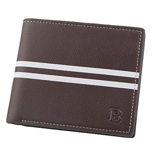 Men Wallet Fashion Short Casual Solid Color Coin Pocket Purses Wallets - Wallet Breast Mens Secretary