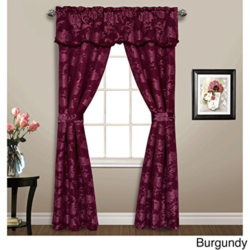 United Curtain 5 Piece Carrington Window Curtain Set, 52 x 84