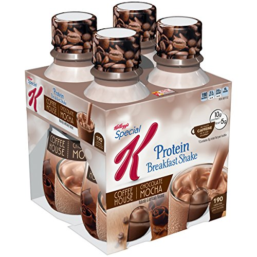Special K Kellogg's, Protein Shakes, Chocolate Mocha, Gluten Free, 10 fl oz Bottles, 4 Count (Pack of 3)