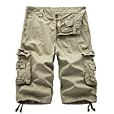HAKJAY Combat Shorts for Men -Khaki-36