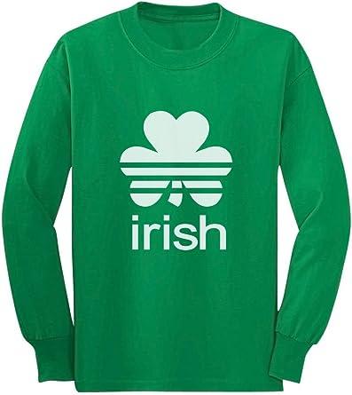 Big Men/'s Long Sleeve T-shirt shamrocks st patricks day tee shirt men plus size