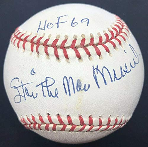 (Autographed Stan Musial Baseball - The Man HOF 69 Nickname Number - JSA Certified - Autographed Baseballs)