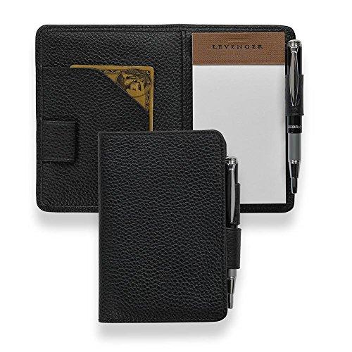 Levenger Swiftnotes Leather Notepad (AL13110 BK NM)