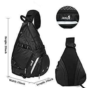 SEEU 32L Oversized Sling Bag Backpack, Crossbody Bag Gym Backpack Outdoor Hiking Travel Bag for Men Women Kids