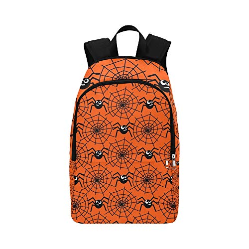 YSWPNA Halloween Spiders Spider Webs Casual Daypack Travel Bag College School Backpack for Mens and Women -