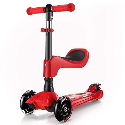 Patinetes Scooters con Asiento, Scooter Ligero para niños ...