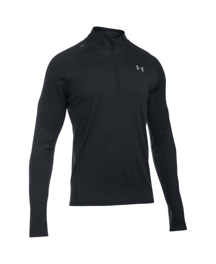 Under Armour Men's No Breaks Run 1/4 Zip, Black/Black, Small by Under Armour (Image #4)