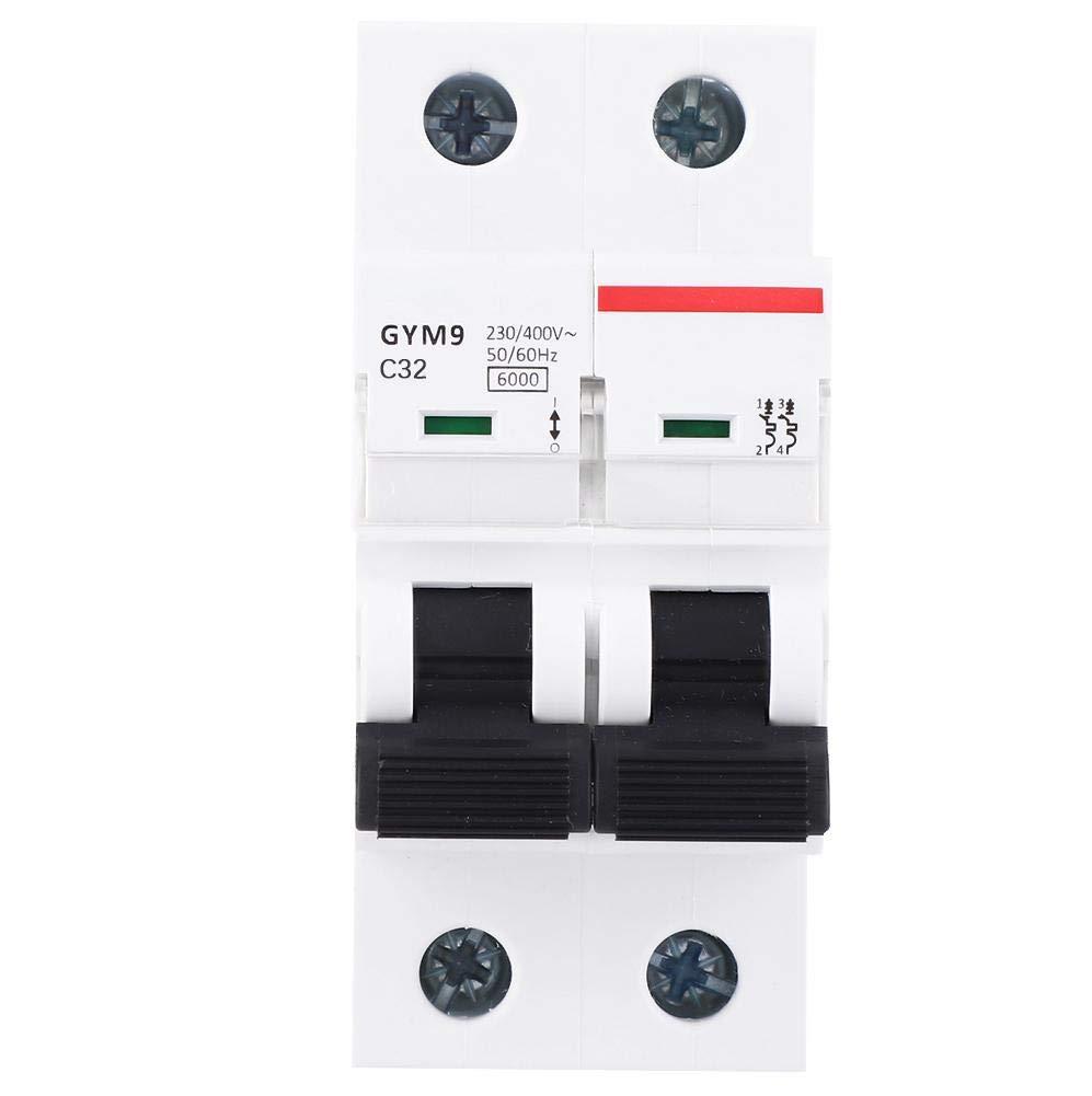 32A Circuit Breaker GYM9 2P MCB Miniature Circuit Protection 400VAC Circuit Breaker Air Switch