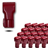(50 pack) 6mm Red Plastic Retail Shop Security Display Hook Anti- Theft, Anti Sweep Stop Lock for Pegboard or Slat Wall (50 Red A Locks)