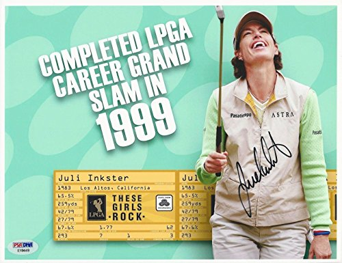 Signed Juli Inkster Photograph - Golfer 8x10#E19449 - PSA/DNA Certified - Autographed Golf Photos (8x10 Golf Certified Autograph Photo)