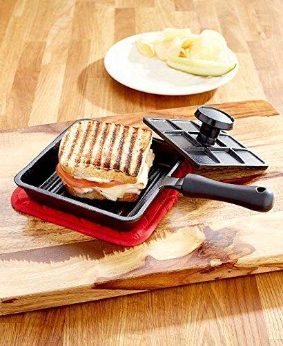 Cast Iron Panini Sandwich Press by GetSet2Save