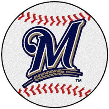 Milwaukee Brewers Rug (Fan Mats Milwaukee Brewers Baseball Rug, 29