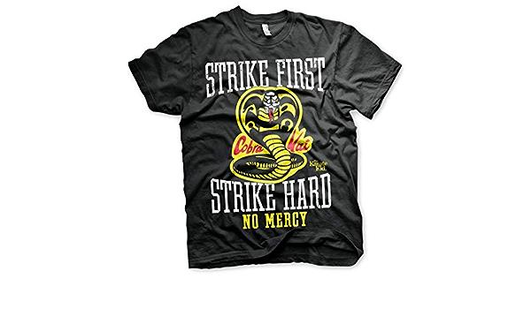 Karate Kid Cobra Kai T-shirt Film Rétro Dojo No Mercy POING COMBAT Tee