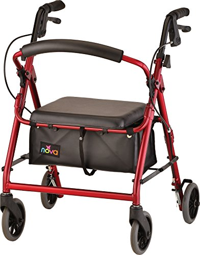 NOVA GetGo Junior Rollator Walker, Red