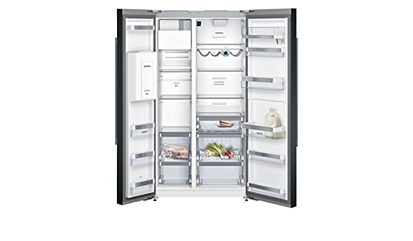 Siemens iQ700 KA92DHB31 Independiente 541L A++ Negro nevera puerta lado a lado - Frigorífico side-by-side (Independiente, Negro, Puerta americana, LED, ...