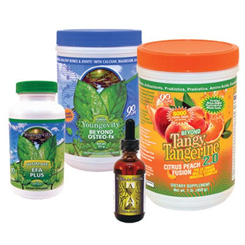 Youngevity Healthy Body Weight Loss Pack 2.0 (Beyond Tangy Tangerine 2.0, Osteo FX Powder, Ultimate EFA Plus, As Slim As Possible) (Ships Worldwide) by Youngevity