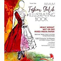 Fashion Sketchbook and Illustration Pad, Premium Hardcover, Heavy-Weight Multi-Media Paper