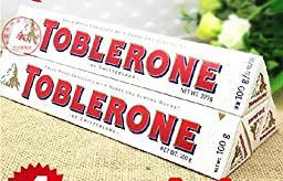Toblerone White Chocolate 100g Pack of 4