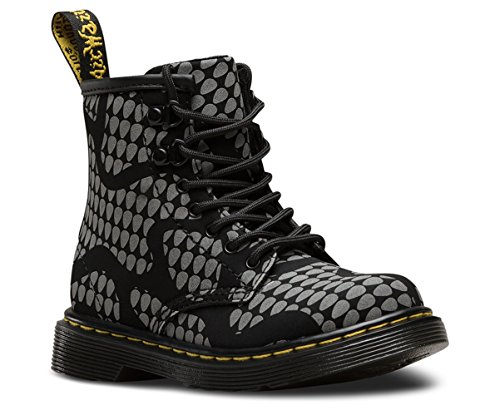 Dr. Martens Kid's Brooklee RS Lace Fashion Boots, Black Nubuck, 8 Toddler M UK, 9 M
