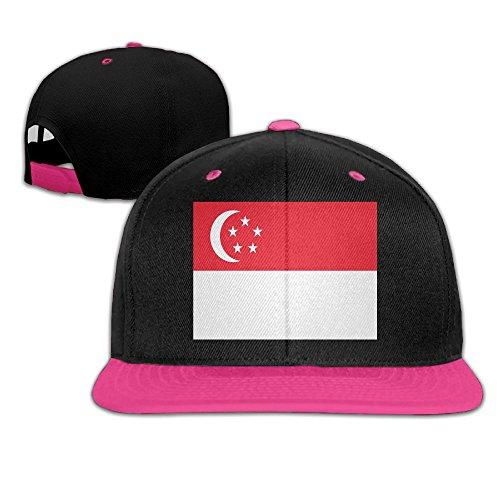 Singapore Flag Adult Unisex Baseball Snapback Hat Trucker Hats Hip-Hop Cap For Men and - Usps Singapore Shipping