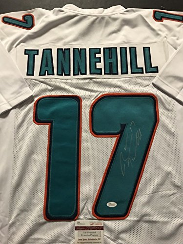 Miami Dolphins Autographed White Jersey (Autographed/Signed Ryan Tannehill Miami Dolphins White Football Jersey JSA COA)