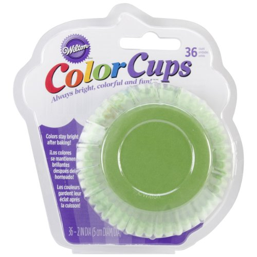 (Wilton ColorCup Standard Baking Cups, 36-Pack, Green Ombre)