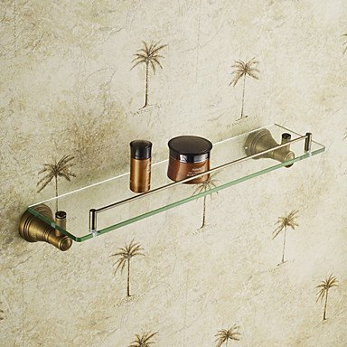 DIDIDD Shelf-European Vintage Brass Antique Glass Shelf by DIDIDD