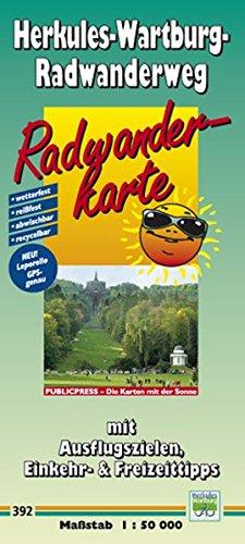 Radwanderkarte Herkules-Wartburg-Radwanderweg: Mit Ausflugszielen, Einkehr- & Freizeittipps, wetterfest, reissfest, abwischbar, GPS-genau. 1:50000