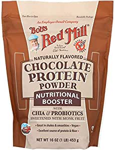 Bob's Red Mill Chocolate Protein Powder Nutritional Booster, 16 Ounce (Pack of 1)